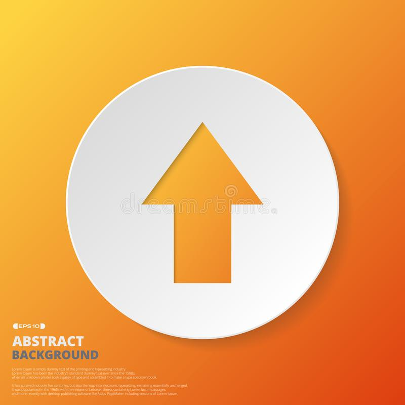 Samenvatting van pijlpictogram op oranje gradiëntachtergrond royalty-vrije illustratie