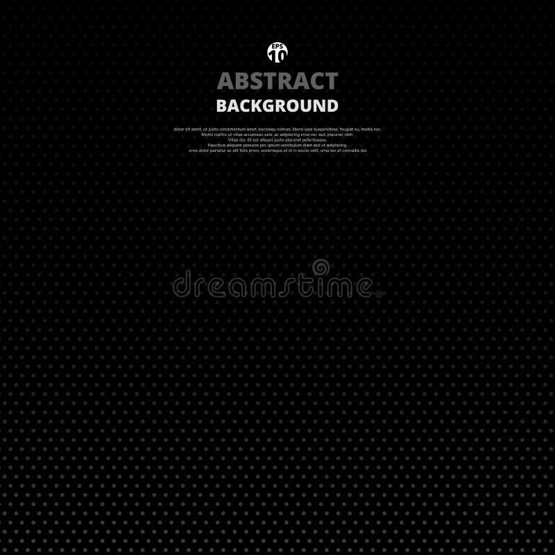 Samenvatting van puntpatroon in gradiënt van zwarte achtergrond royalty-vrije illustratie