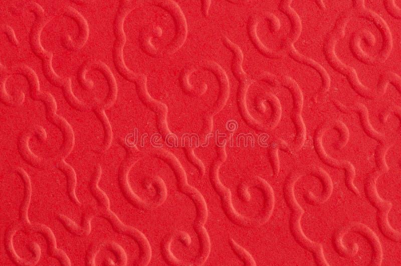 Samenvatting van rood Chinees patroon stock afbeelding