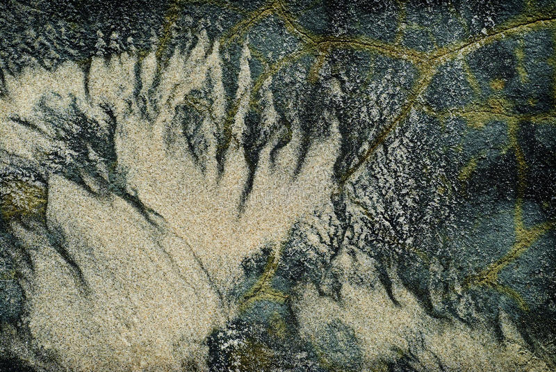 Samenvatting van Zand op Rotsen stock foto's