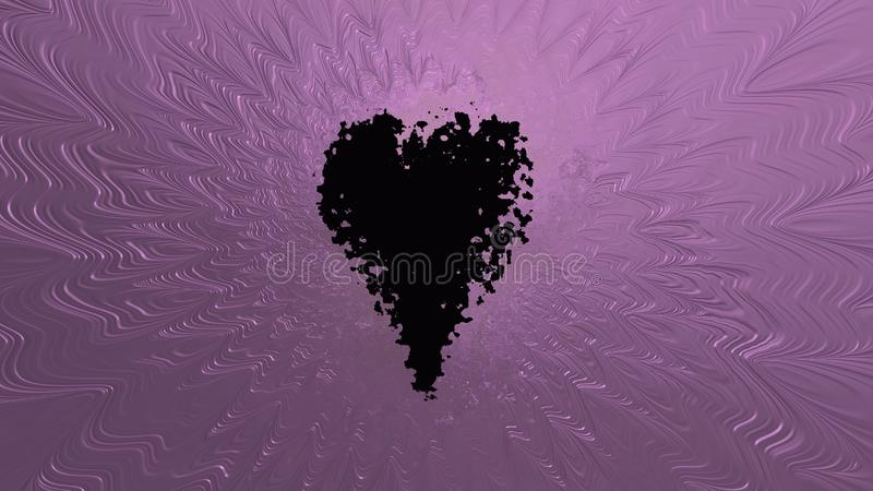 Samenvatting verbrijzeld hart met roze textuur royalty-vrije illustratie