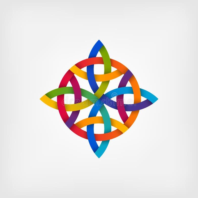 Samenvatting verdraaid symbool in gradiëntkleuren royalty-vrije illustratie