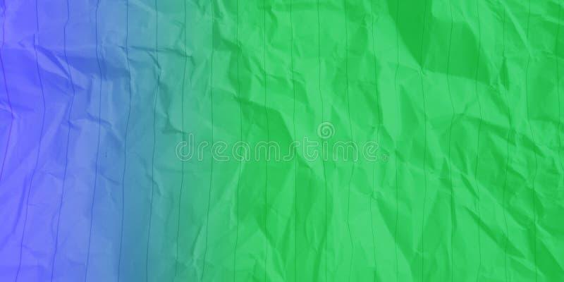 Samenvatting verfrommelde document elektrische blauwe lichtgroene de gevolgenachtergrond van kleuren multikleuren stock foto