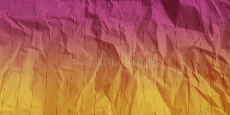 Samenvatting verfrommelde document karmozijnrode gouden de gevolgenachtergrond van kleuren multikleuren royalty-vrije stock foto