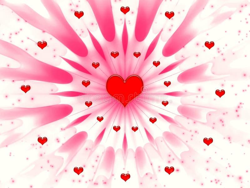 Samenvatting voor de dag van Valentijnskaarten royalty-vrije illustratie