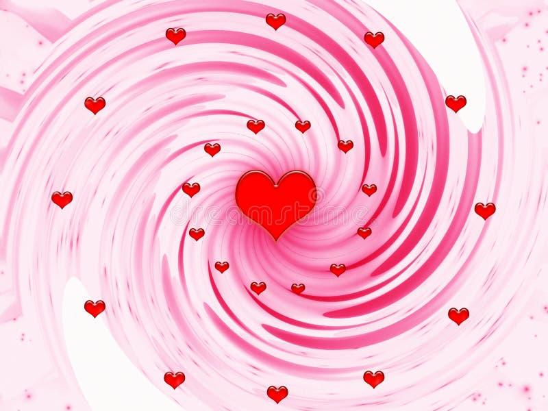 Samenvatting voor vakantie - de dag van Valentijnskaarten stock illustratie