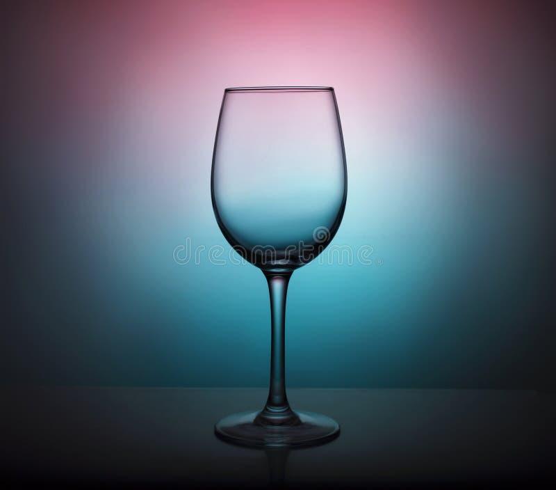 Samenvatting, Wijnglas, ontwerp, partij, menu, wijnkaart, gradiëntverlichting royalty-vrije stock afbeelding