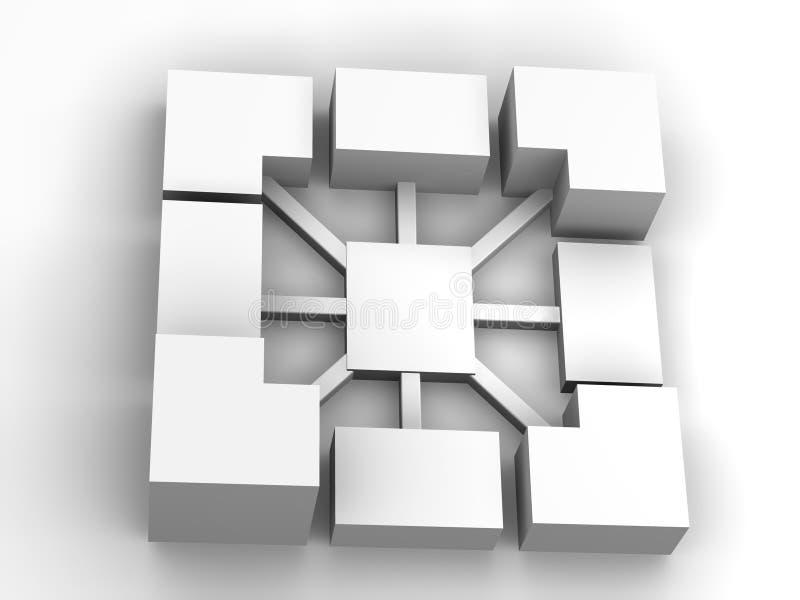 Samenwerking vector illustratie