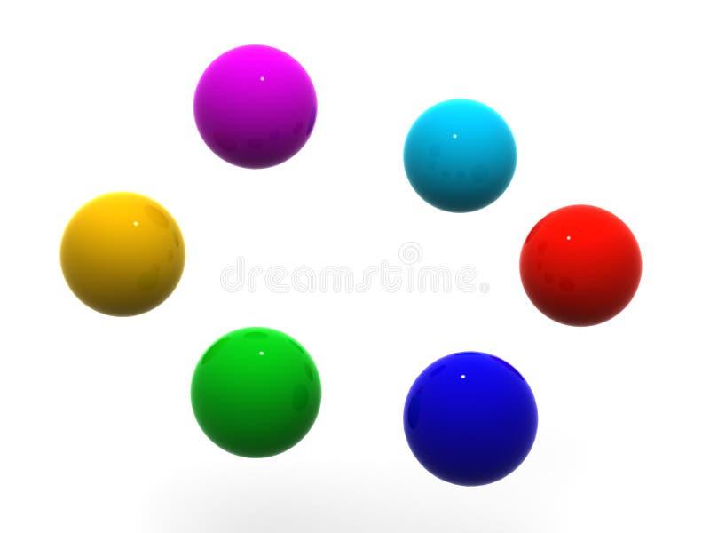 Samenwerking stock illustratie