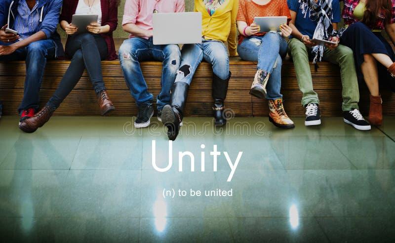 Samenwerking Team Concept van de eenheids de Communautaire Verbinding stock foto