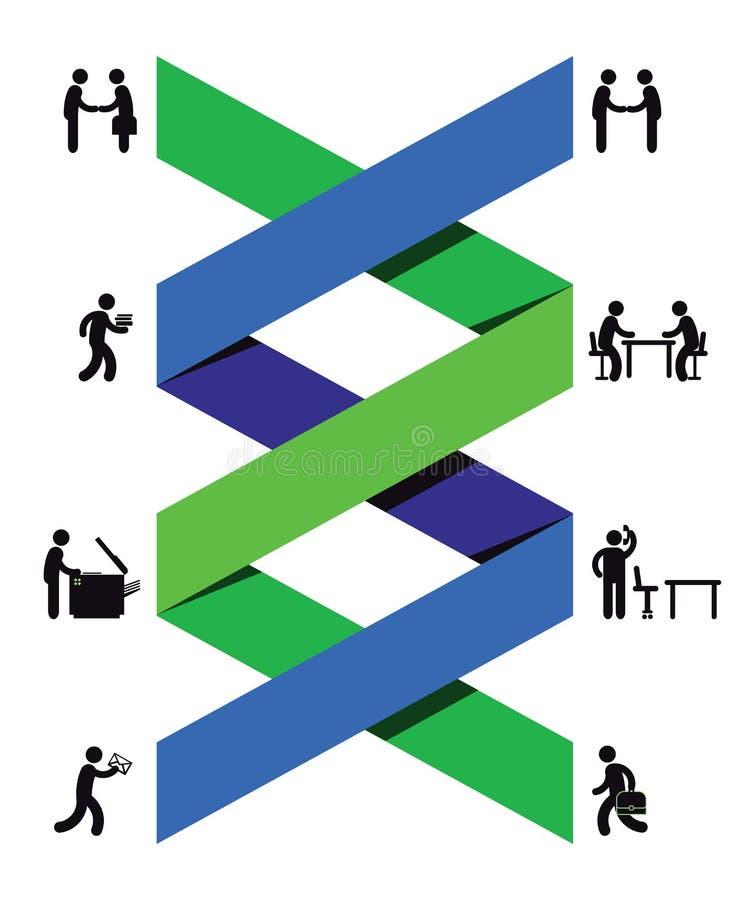 Samenwerking tussen bedrijven vector illustratie