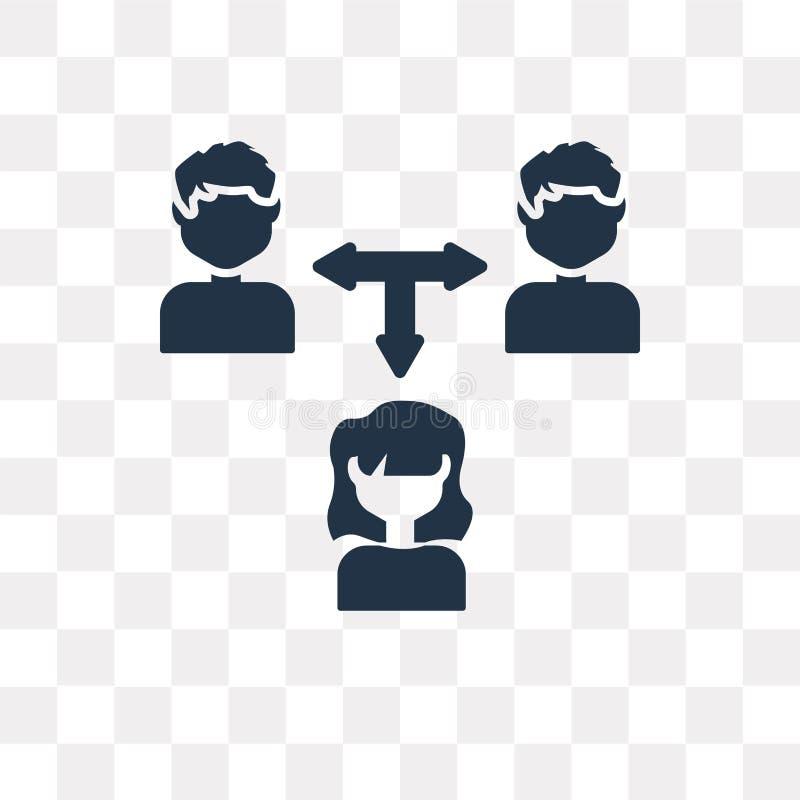 Samenwerkings vectordiepictogram op transparante achtergrond, Co wordt geïsoleerd stock illustratie