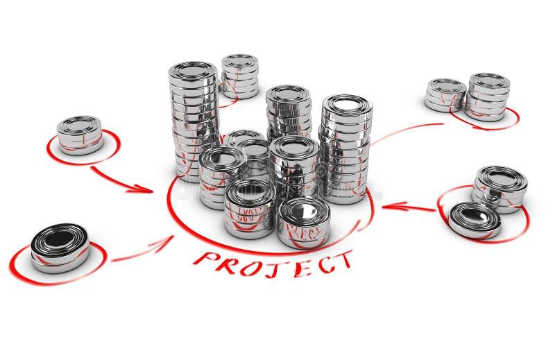 Samenwerkingsfinanciën, Crowdfunding royalty-vrije illustratie