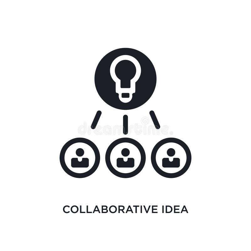 samenwerkingsidee geïsoleerd pictogram eenvoudige elementenillustratie van algemeen-1 conceptenpictogrammen het samenwerkingsteke vector illustratie