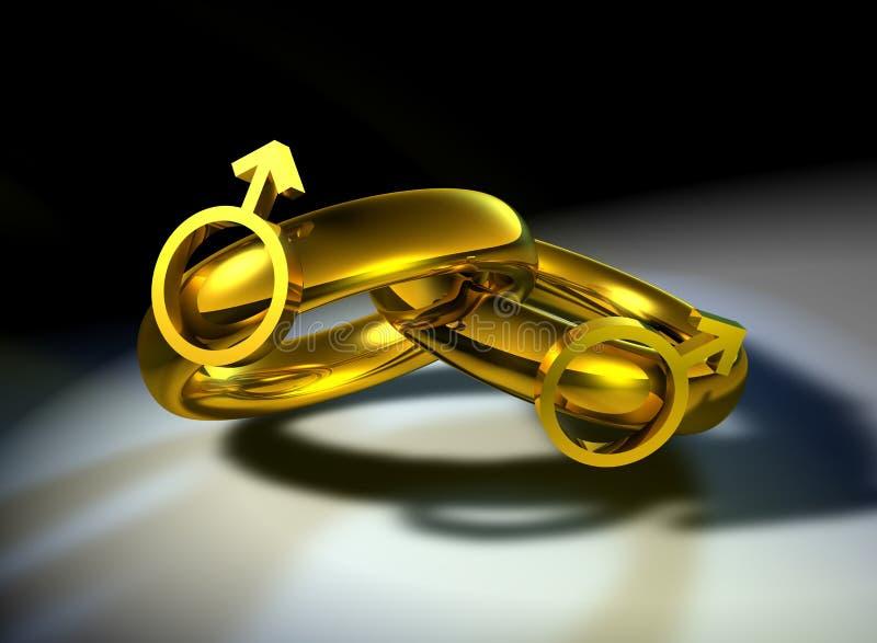 Samesex-varón ilustración del vector