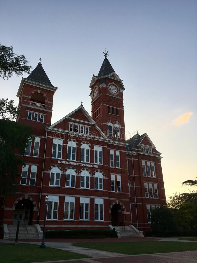 Samford Hall in Auburn, Alabama stock image