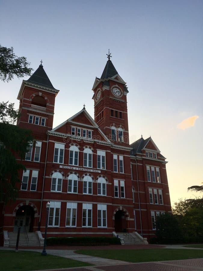 Samford Hall dans auburn, Alabama image stock