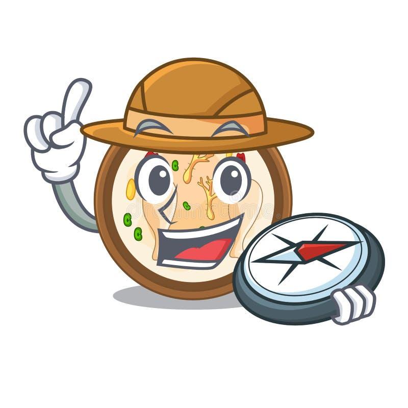 Samgyetang do explorador na forma de caráter da ilustração do vetor