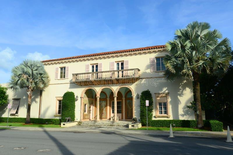 Samhälle av de fyra konsterna, Palm Beach, Florida royaltyfri fotografi