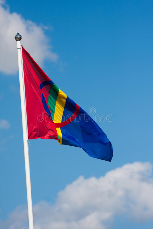 Download Sami flag stock image. Image of flag, laponia, clouds - 18555931