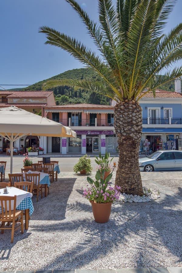 SAMI, KEFALONIA, GREECE - MAY 26 2015: Panorama of Port of town of Sami, Kefalonia, Greece royalty free stock image