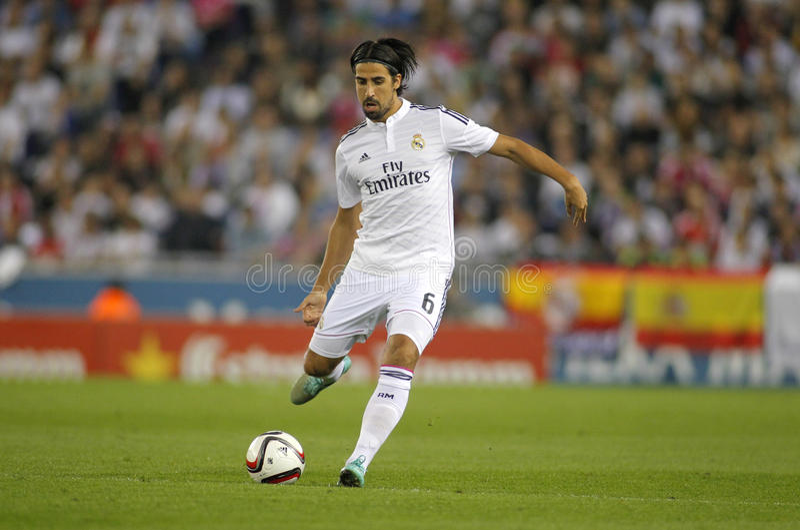 Sami Khedira of Real Madrid royalty free stock photos