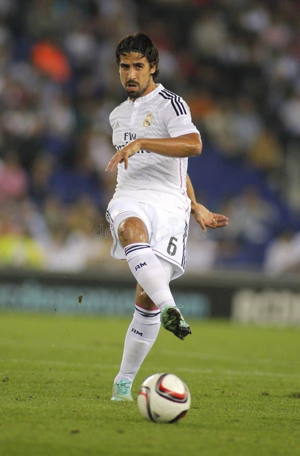 Sami Khedira of Real Madrid stock photography