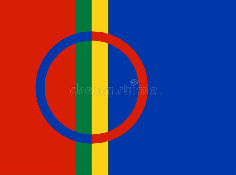 Sami people flag illustration. stock illustration