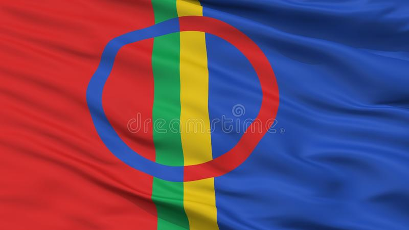 Sami Scandinavia Flag Closeup View royalty free illustration
