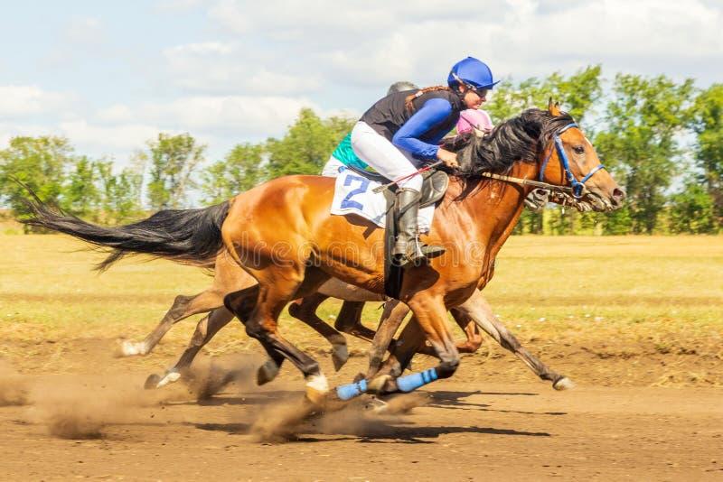 Samian festivalara, Sierpień, 2018: Wyścigi konny przy equestr zdjęcia stock