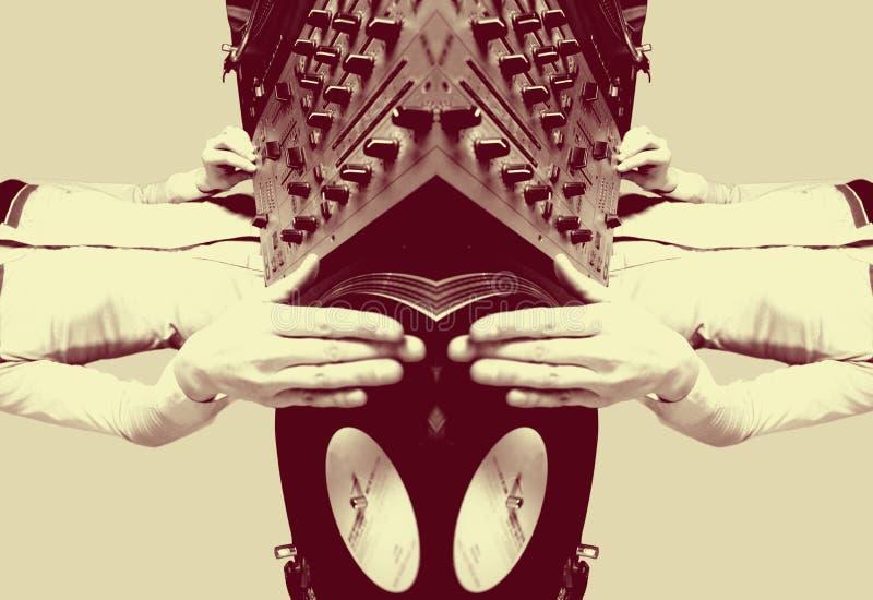 samica dj - ostry odzwierciedlający schematu royalty ilustracja