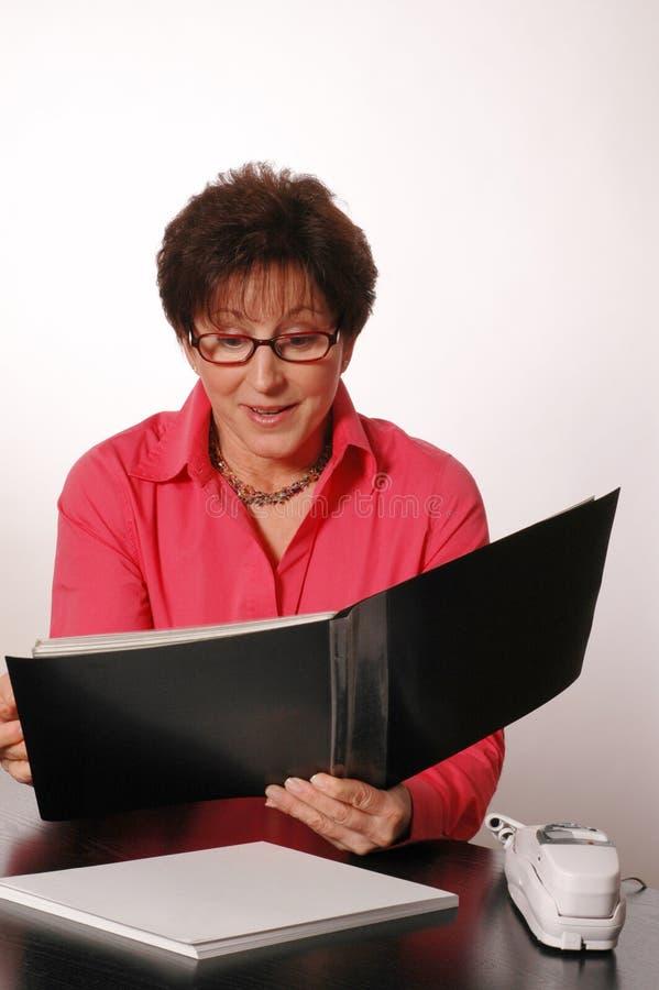 samica portfolio przeglądu wykonawczy obrazy stock