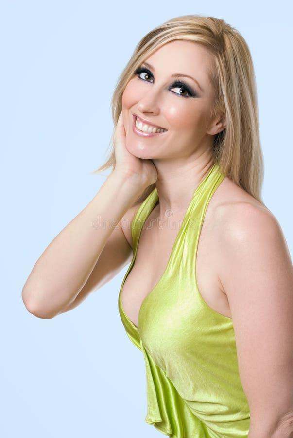 samica rozpromieniona uśmiech zdjęcie stock