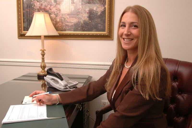 samica wykonawczego się uśmiecha obrazy royalty free