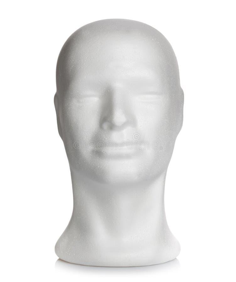 Samiec głowa styrofoam zdjęcia stock