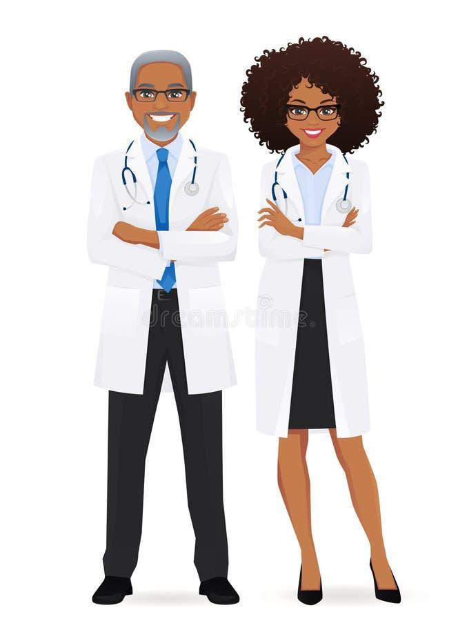 Samiec i kobiety lekarka ilustracja wektor