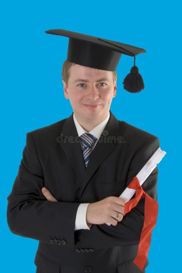 Samiec młody absolwent zdjęcia stock