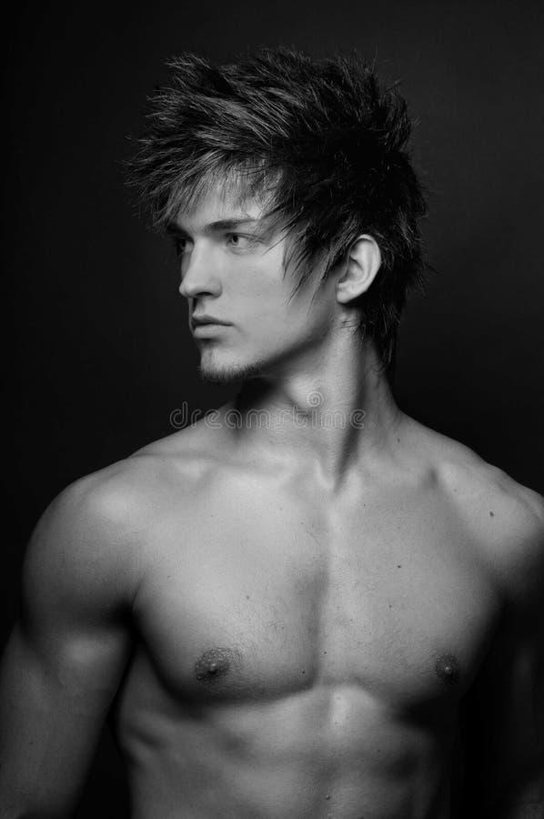 Samiec model Сlose-up portret fotografia stock