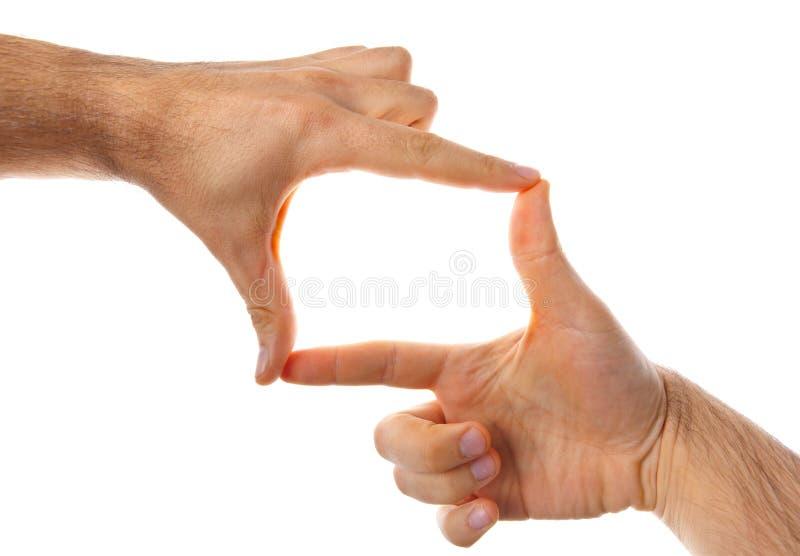 Samiec ręki robi ramie obraz stock