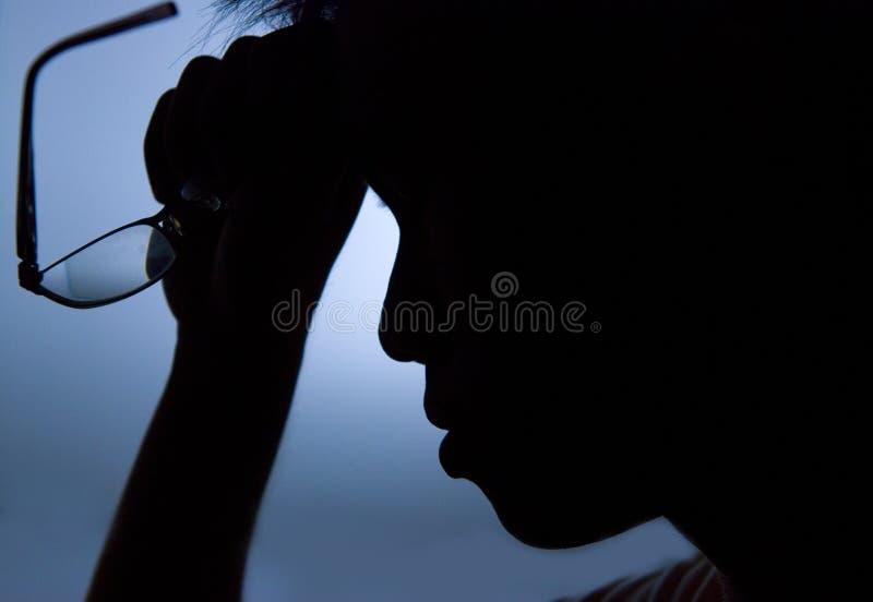samiec stresująca się obrazy stock
