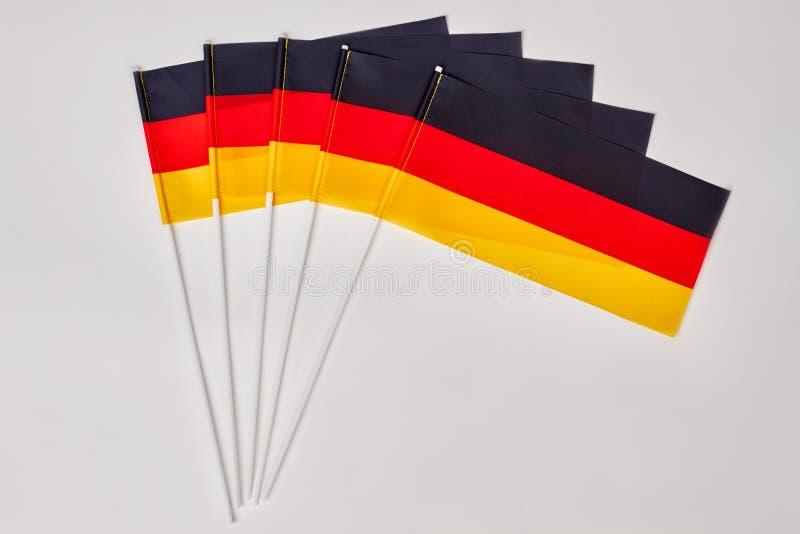 Samla av Tysklandflaggor royaltyfria bilder