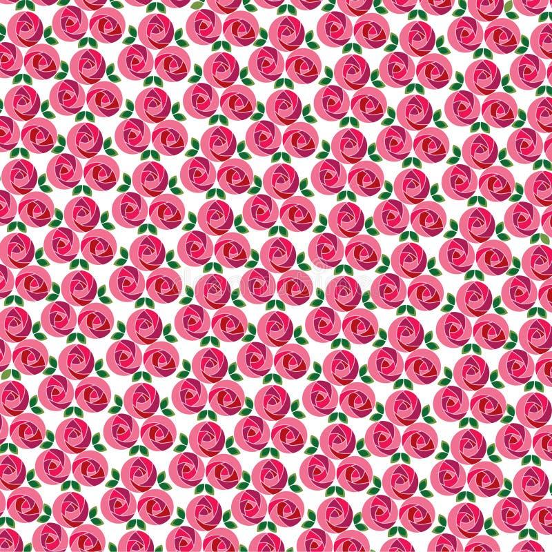 Samla i en klunga ändrings-rosmodell stock illustrationer