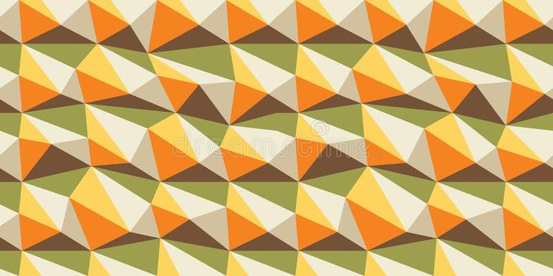 Samleess trójboki, wektorowy bezszwowy wzór, geometryczny, geo tło, trójbok forma, okładkowy projekt ilustracja wektor