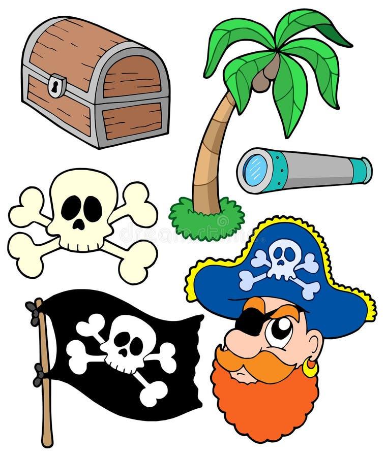 samling 2 piratkopierar royaltyfri illustrationer