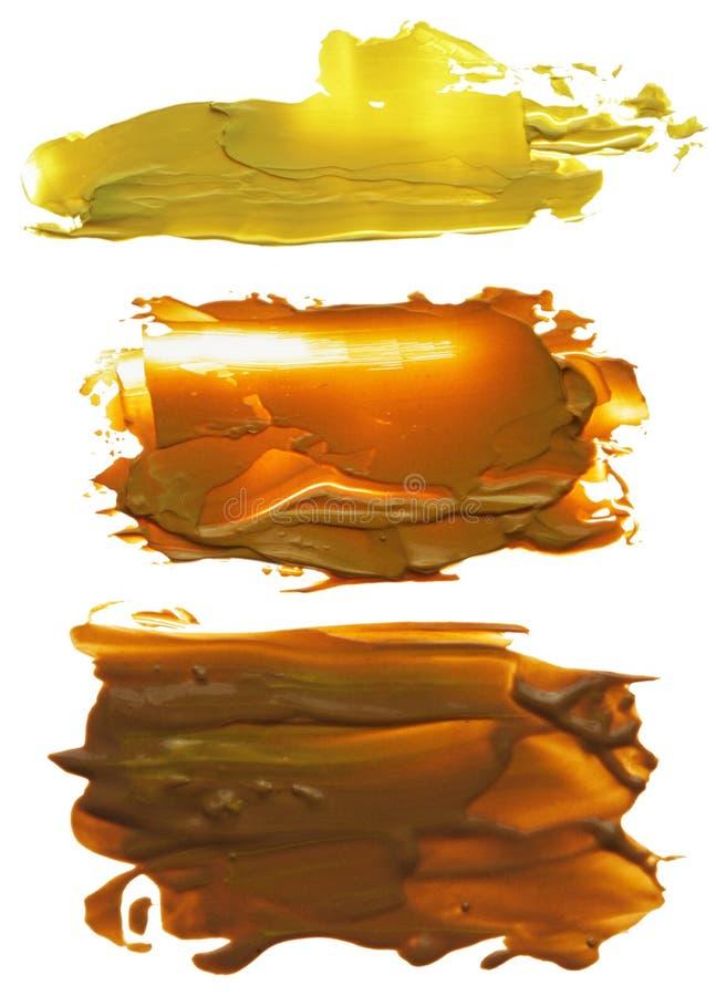 Samling av abstrakta fläckar för akrylborsteslaglängder arkivbilder