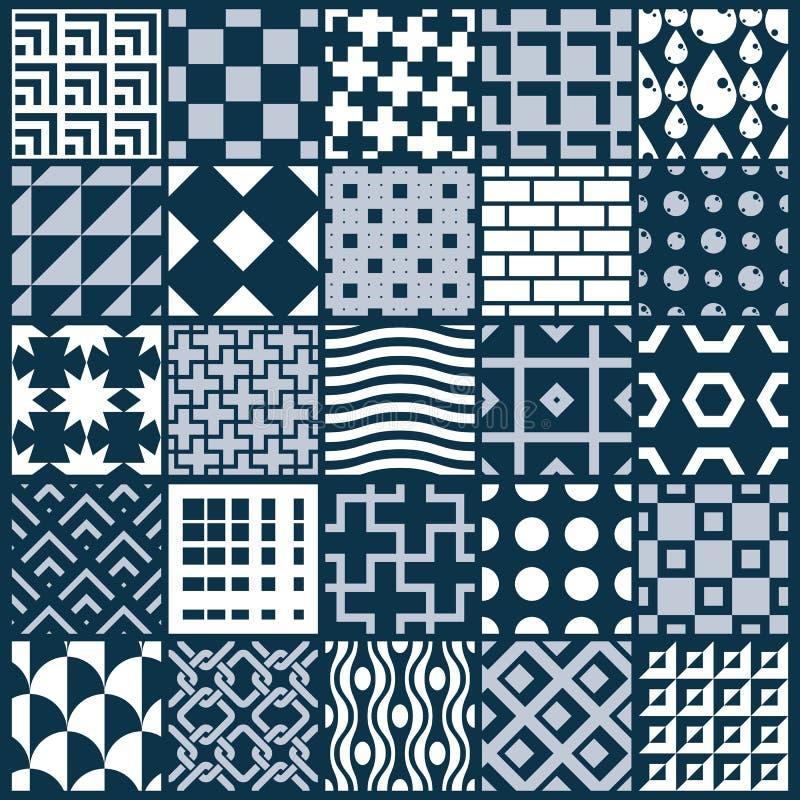 Samling av abstrakta sömlösa sammansättningar, symmetrisk nolla vektor illustrationer