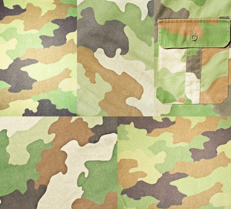 Samling av armén och militära bakgrunder och texturer arkivfoton