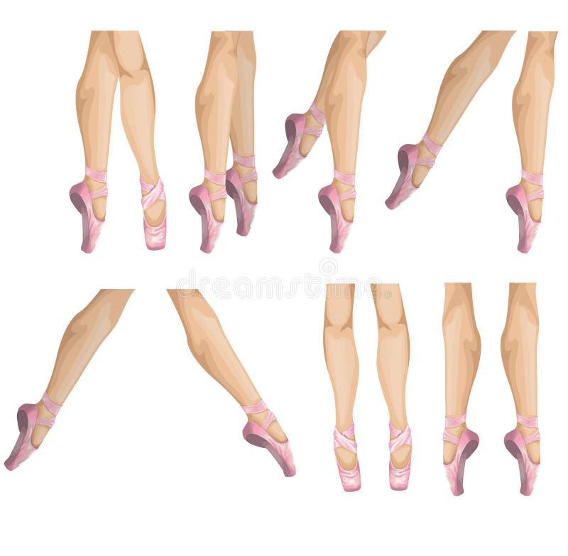 Samling av baletthäftklammermatare royaltyfri illustrationer