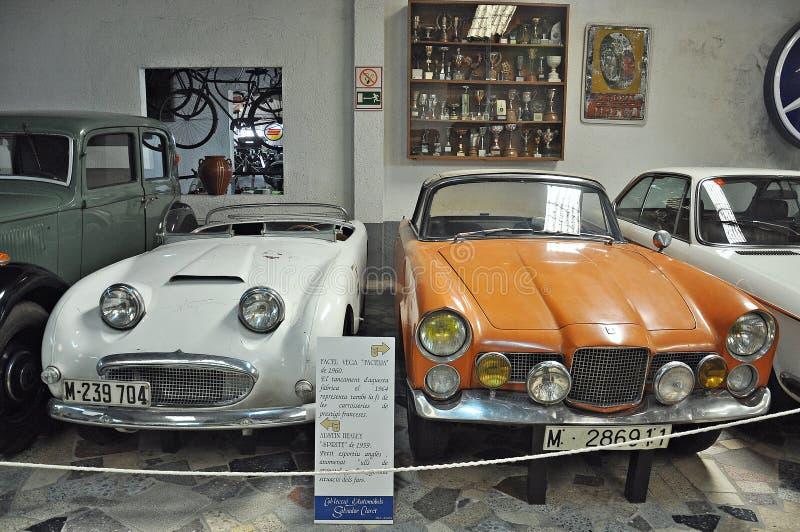 Samling av bilar Salvador Claret royaltyfri bild