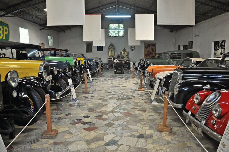Samling av bilar Salvador Claret arkivbild